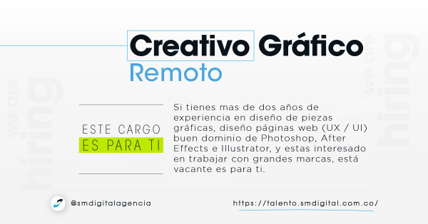 Creativo grafico / remoto