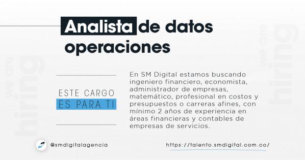 Analista de datos operaciones